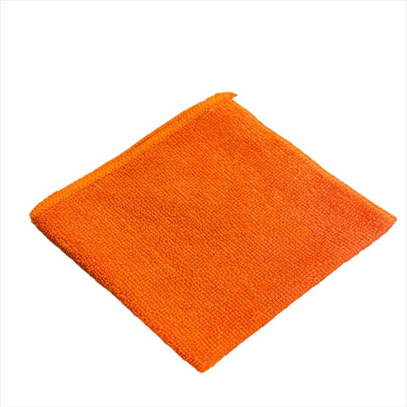 12 x 12 Orange Economy Microfiber Towel (24 Pack)