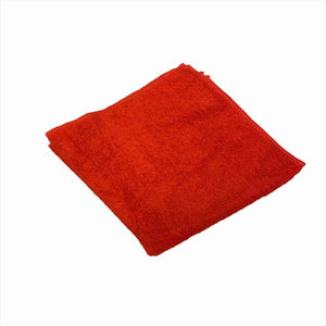 12 x 12 Red Economy Microfiber Towel (24 Pack)