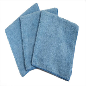 "16 x 16"" Light Blue Professional Grade Microfiber Towel (36 pack)"