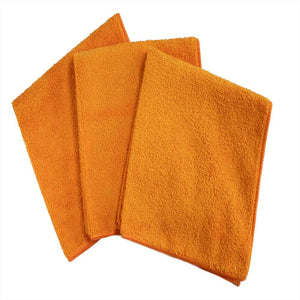 "16 x 16"" Orange Professional Grade Microfiber Towel (36 pack)"