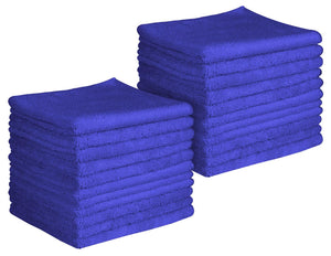 "16 x 16"" Royal Blue Professional Grade Microfiber Towel (Pack of 24)"