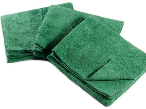 "16 x 27"" Forest Green Edgeless Microfiber Towel"