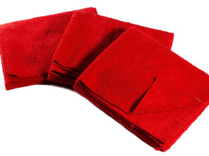 "16 x 27"" Red Edgeless Microfiber Towel"