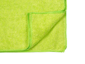 "16 x 16"" Lime Green Economy Microfiber Towel (36 Pack)"
