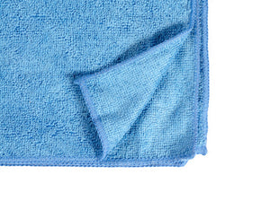 "16 x 16"" Light Blue Economy Microfiber Towel (36 Pack)"
