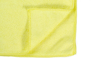 "16 x 16"" Yellow Economy Microfiber Towel (36 Pack)"