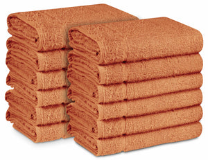 "16 x 27"" Peach 100% Cotton ULTRA Salon Towel"