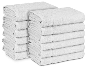 "16 x 27"" White 100% Cotton ULTRA Salon Towel"