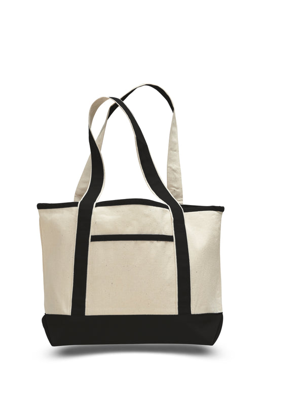 Small  Canvas Deluxe Tote Bag 18-1/2