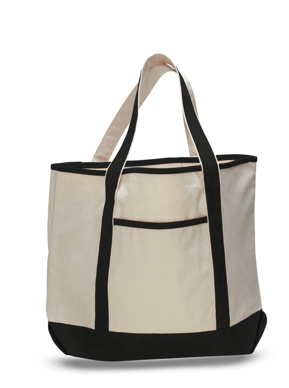 Jumbo Heavy Canvas Deluxe Tote Bag 22