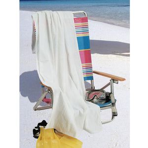 "100% Premium Cotton Beach Towels 30"" x 60"" (WHITE) 12 PC PACK"
