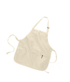 "Medium Length Apron with Pockets  22""W x 24""H 12 Pc Pack (1 Dozen )"