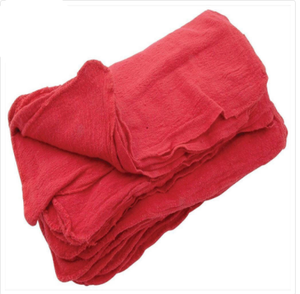 Red Cotton Shop Towels (100 Pack)