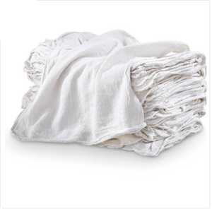 White Cotton Shop Towels (100 Pack)