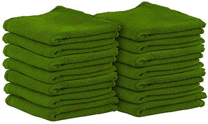 Green Cotton Shop Towels (100 Pack)