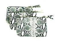 Make Up Pouch in Python Print on Lamb Skin