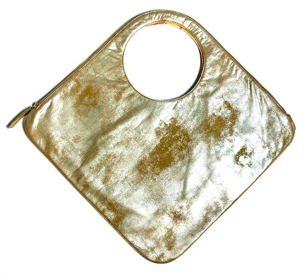 Diamond Shoulder Bag in Distressed Champagne