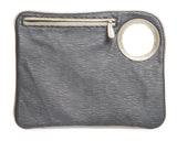 Hands-Free Bracelet Bag - Large Clutch in Grey Embossed Stripe