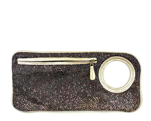 Hands-Free Bracelet Clutch - Medium - Stingray with Pearl Ring