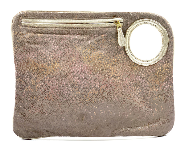 Hands-Free Bracelet Bag - Large Clutch in Grey Stingray LIMITED EDITION