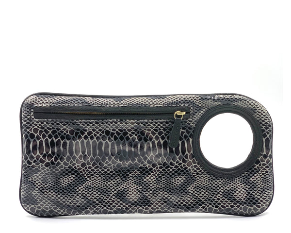 Hands-Free Bracelet Clutch - Medium - Python Black Grey LIMITED EDITION