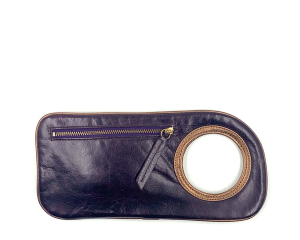 Hands-Free Bracelet Wallet in Eggplant