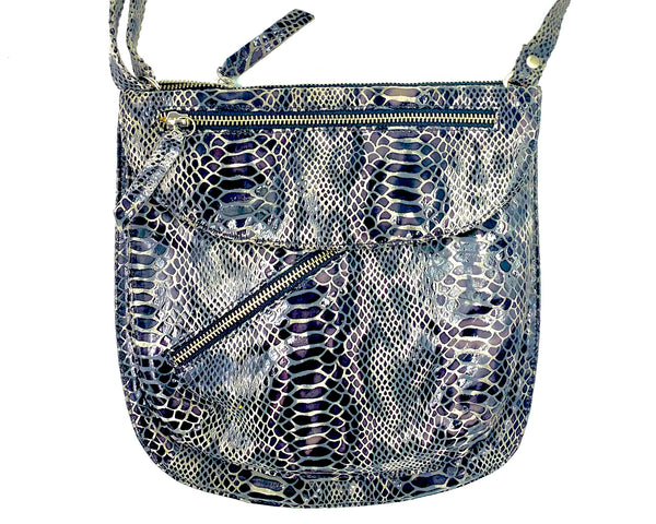 Rolita Crossbody Bag in Grey & Black Snake LIMITED EDITION