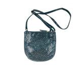 Rolita Crossbody Bag in Cheetah Print on Grey Suede