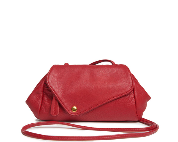 Sofia Convertible Bag in Red