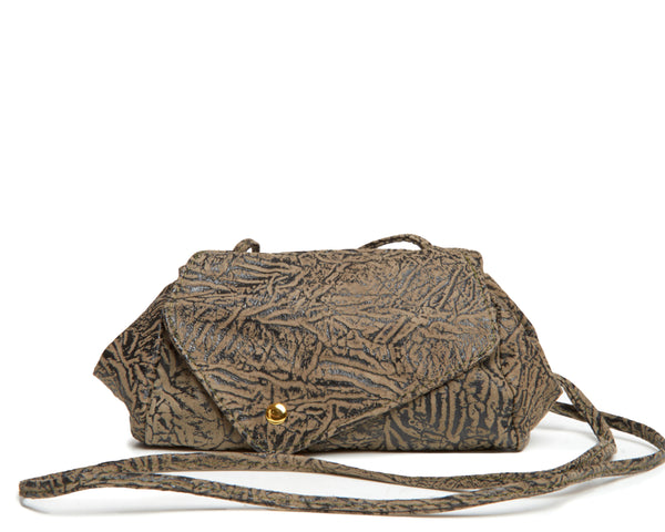 Sofia Convertible Bag in Embossed Olive
