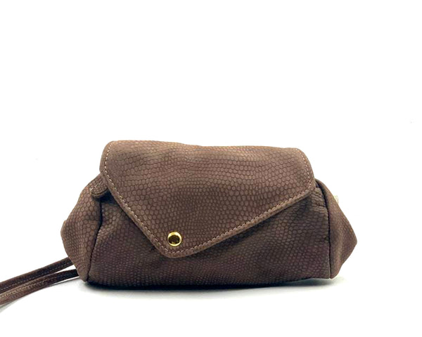 Sofia Convertible Bag in Brown Embossed LIMITED EDITION