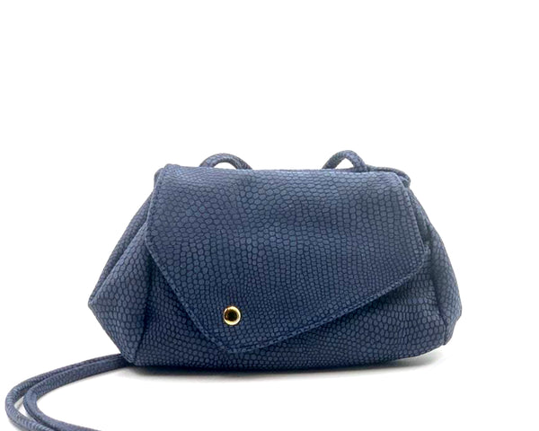 Sofia Convertible Bag in Blue Embossed LIMITED EDITION