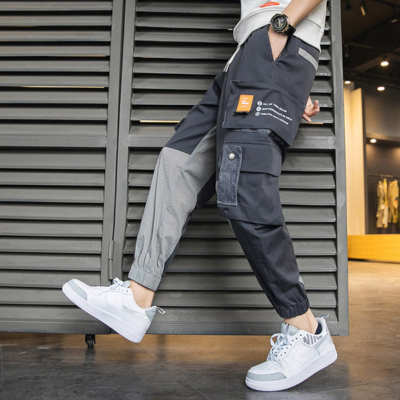 Street Hip-hop Trend Overalls Men's Large Pockets Beam Feet Feet Pants Sports Casual Pants Men