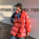 Privathinker Korean Winter Warm Parkas For Men Fashion Gradient Men's Oversized Jackets Coats Streetwear Thicken Parka Man