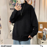 Privathinker Men's Solid Color Winter Sweaters 2020 Korean Autumn Winter Knitted Men Sweater Pullovers Harajuku Man Tops