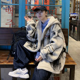 Privathinker 2020 Winter New Men's Hooded Trend Lamb Wool Plush Coats Woman Korean Streetwear Warm Coat Man Fashion Clothing