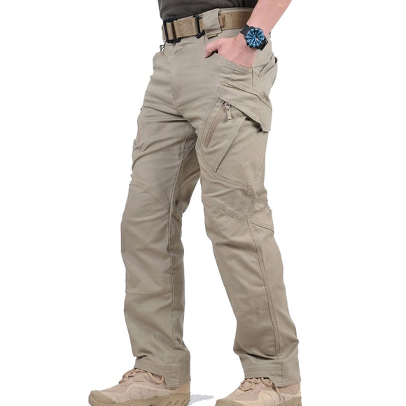 IX9 City Tactical Cargo Pants Men Combat SWAT Army Military Pants Cotton Many Pockets Stretch Flexible Man IX7 Casual Trousers