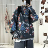 Privathinker Men's Loose Casual Sweaters Korean Streetwear Woman Pullovers Graphic Printed Male Clothing