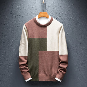 MRMT 2020 Brand New Men's Knitted Sweaters Fashion Coloured Sweaters Pullover for Male Long-sleeved Young Leisure Sweaters