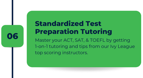 Standardized Test Preparation (SAT Preparation, ACT Preparation, and TOEFL) with Ivy Camps USA