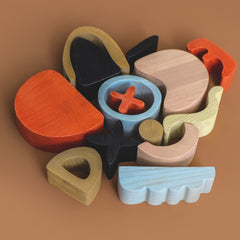 abstract art building set