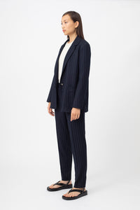 Fran Navy Blue pinstripe Jacket