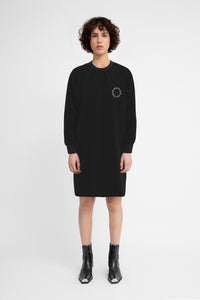 Moon Age Black Sweatshirt Dress