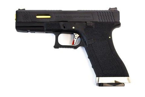 WE E FORCE EU17 PISTOL BK (BLACK SLIDE AND GOLD BARREL)