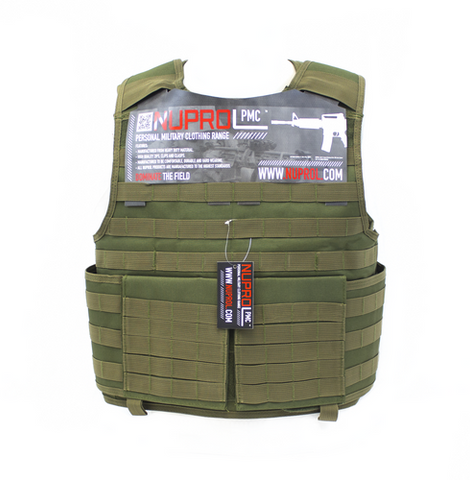 NP PMC PLATE CARRIER - GREEN Nuprol