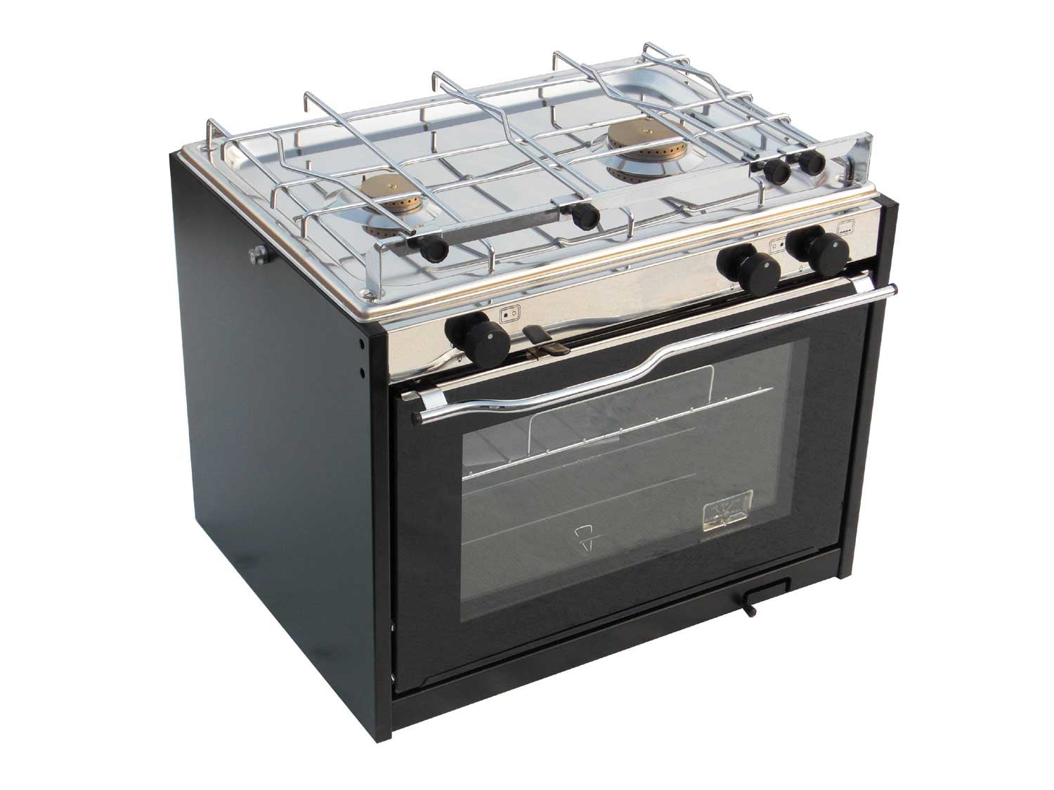 Cooker 2 burners with oven Black