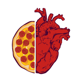 Heart pizza