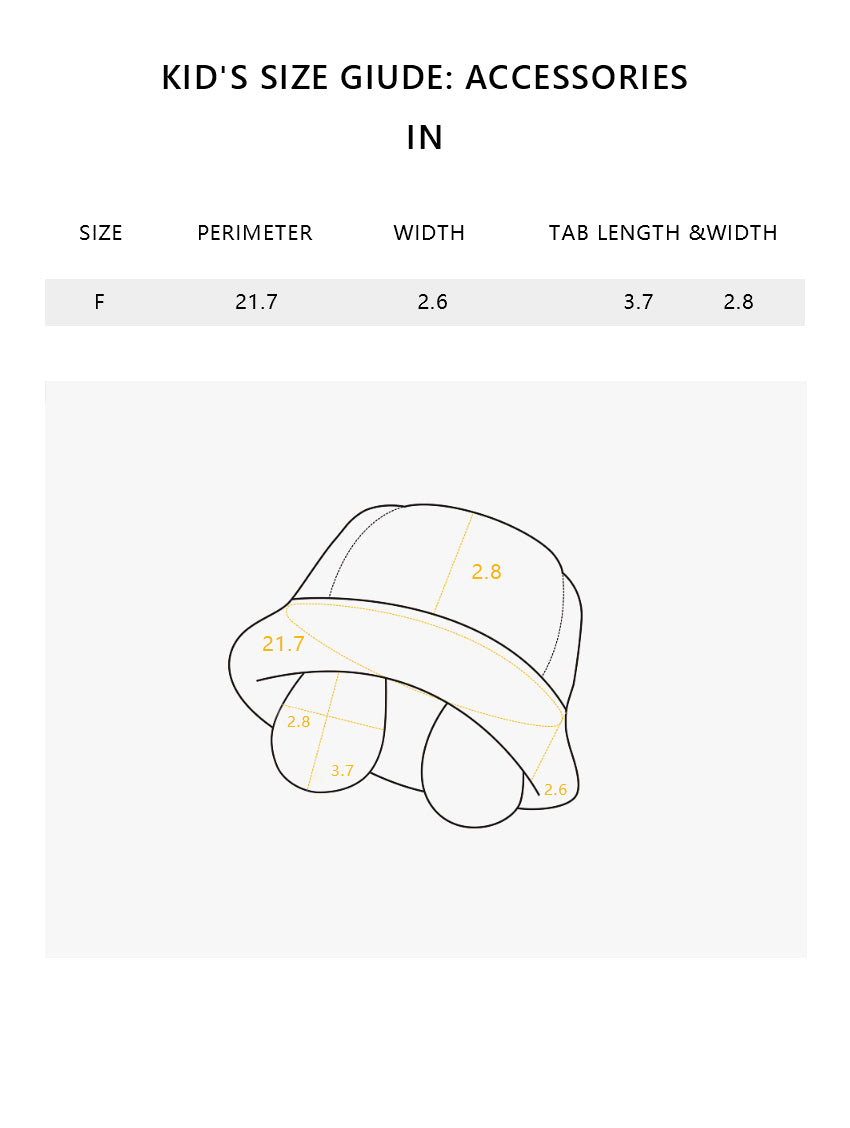 Size chart of Products Kid's Faux-fur Bucket Hat UPF50+