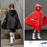 Load image into Gallery viewer, Kids wearing Black and Red False-two Rainproof Coats