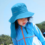 Load image into Gallery viewer, Display of Blue Logo-print Bucket Hat